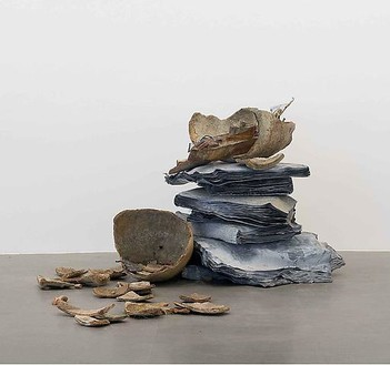 Anselm Kiefer, Verunglückte Hoffnung, 2008 Lead and pottery, 51 ¼ × 67 × 78 ¾ inches (130.2 × 170.2 × 200 cm)