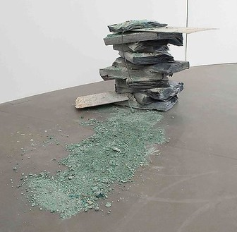 Anselm Kiefer, Totes Meer, 2008 Lead, glass and acrylic, 49 ¼ × 90 ½ inches (125.1 × 229.9 cm)