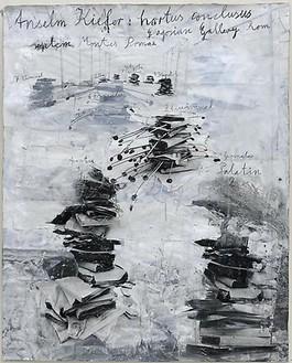 Anselm Kiefer, hortus conclusus, 2009 Gouache on photopaper, 69 ⅜ × 55 13/16 inches (176 × 142 cm)