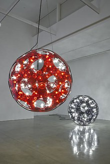 Carsten Höller: Reindeers & Spheres Installation view, photo by Joshua White
