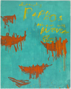 Cy Twombly: Leaving Paphos Ringed with Waves, Merlin Street, Athens