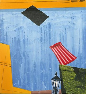 Dexter Dalwood, Gatsby, 2009 Oil on canvas, 85 × 86 ¼ inches (216 × 219 cm)
