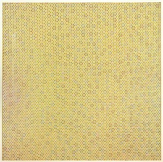Piotr Uklański, Untitled (Carmen), 2008 Crayon shavings on plexiglass in wood frame, 80 × 80 ¼ inches (203.2 × 203.8 cm)