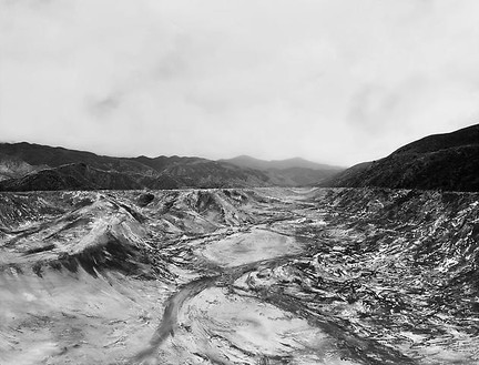 Florian Maier-Aichen, Untitled (St. Francis Dam), 2009 Chromogenic print, 71 ⅜ × 92 ⅝ inches framed (181.3 × 235.3 cm), edition of 6