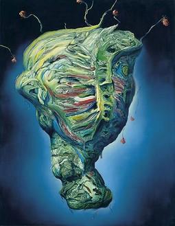 Glenn Brown, Come All Ye Rolling Minstrels, 2009 Oil on panel, 55 × 43 inches (140 × 109 cm)© Glenn Brown