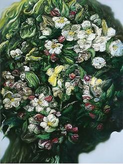 Glenn Brown, Debaser, 2009 Oil on panel, 39 ½ × 29 ½ inches (100 × 75 cm)© Glenn Brown