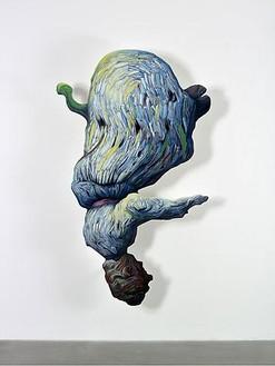 Glenn Brown, Song to the Siren, 2009 Oil on panel, 98 ½ × 58 ¼ × 7 inches (250 × 148 × 17.5 cm)© Glenn Brown