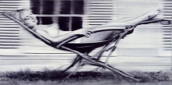 Gerhard Richter, Deck Chair II, 1965 Oil on canvas, 39 ¼ × 78 ⅜ inches (99.7 × 199.1 cm)