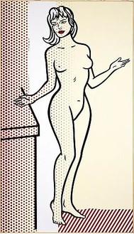 Roy Lichtenstein, Nude, 1997 Oil and Magna on canvas, 82 ½ × 45 inches (209.6 × 114.3 cm)© Estate of Roy Lichtenstein