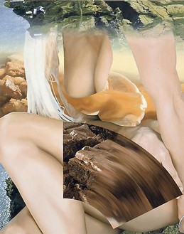 Jeff Koons, Pam, 2001 Oil on canvas, 108 × 84 inches (274.3 × 213.4 cm)© Jeff Koons