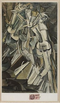 Marcel Duchamp, Nude Descending a Staircase, 1912 Print, 13 ⅝ × 7 ¾ inches (34.6 × 19.7 cm)