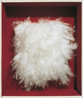 Piero Manzoni, Achrome, 1961–62 Artificial fiber, 24 3/16 × 18 ⅛ inches (61.5 × 46 cm)Photo: Archivio Opera Piero Manzoni