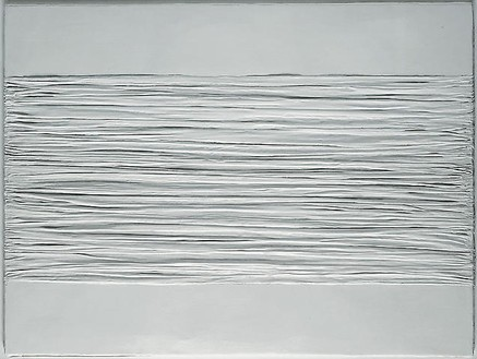 Piero Manzoni, Achrome, 1958–59 Creased canvas and Kaolin, 31 ½ × 39 ⅜ inches (80 × 100 cm)Photo by Rob McKeever
