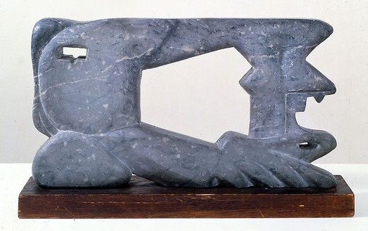 David Smith, Sewing Machine, 1943 Danby blue marble, 12 × 22 × 2 ½ inches (30.5 × 55.9 × 6.4 cm)