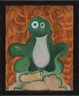 Mike Kelley, Fuck Me - I'm Irish, 2009 Acrylic on canvas, 33 ¼ × 27 ¼ inches (84.5 × 69.2 cm)