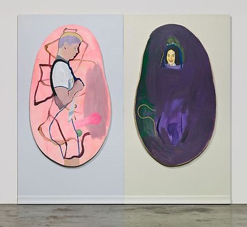 Mike Kelley, Untitled 4, 2008–09 Acrylic on wood panels, 102 × 116 inches (259.1 × 294.6 cm)