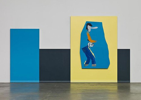 Mike Kelley, Untitled, 2008–09 Acrylic on wood panels, 99 × 179 ¼ inches (251.5 × 455.3 cm)