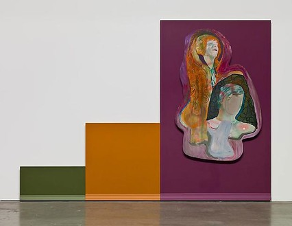 Mike Kelley, Untitled, 2008–09 Acrylic on wood panels, 94 × 131 ¼ inches (238.8 × 333.4 cm)