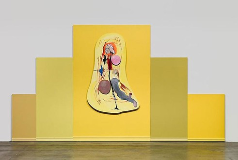 Mike Kelley, Untitled, 2008–08 Acrylic on wood panels, 100 × 184 ¼ inches (254 × 468 cm)