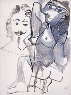 Pablo Picasso, Femme Nue avec Tête d'Homme, 1967 Oil on canvas, 51 × 38 inches (130 × 97 cm)© 2009 Estate of Pablo Picasso / Artists Rights Society (ARS ), New York