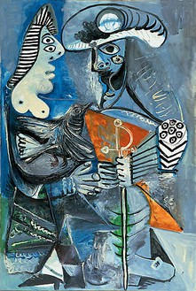 Pablo Picasso, Couple, 1970 Oil on canvas, 76 ¾ × 51 ¼ inches (195 × 130 cm)© 2009 Estate of Pablo Picasso / Artists Rights Society (ARS ), New York