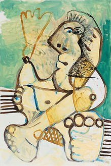 Pablo Picasso, Femme, 1972 Oil on canvas, 76 ¾ × 27 ½ inches (195 × 130 cm)© 2009 Estate of Pablo Picasso / Artists Rights Society (ARS ), New York