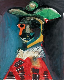 Pablo Picasso, Buste, 1970 Oil on canvas, 39 ½ × 32 inches (100 × 81 cm)© 2009 Estate of Pablo Picasso / Artists Rights Society (ARS ), New York