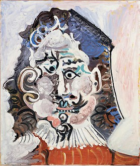 Pablo Picasso, Tête d'homme du 17ème siècle de face, 1967 Oil on canvas, 25 ½ × 21 ½ inches (65 × 54.5 cm)© 2009 Estate of Pablo Picasso / Artists Rights Society (ARS), New York