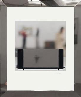 Richard Hamilton, Toaster deluxe 4, 2008 Inkjet, stainless steel, polycarbonate, on Somerset Velvet for Epson paper 505 gsm, GM WaterWhite Museum glass, tulip wood, brass, expanded neoprene, polyethylene, 34 13/16 × 28 ⅞ inches framed (88.5 × 73.3 cm)