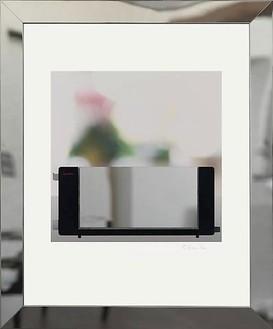 Richard Hamilton, Toaster deluxe 2, 2008 Inkjet, stainless steel, polycarbonate, on Somerset Velvet for Epson paper 505 gsm, GM WaterWhite Museum glass, tulip wood, brass, expanded neoprene, polyethylene, 34 13/16 × 28 ⅞ inches framed (88.5 × 73.3 cm)