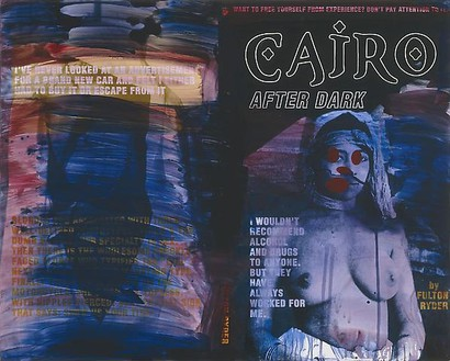 Richard Prince, Untitled (Cairo After Dark), 2009 Acrylic on chromogenic print, 36 × 45 inches (91.4 × 114.3 cm)