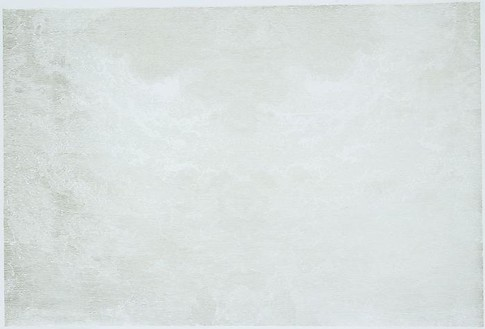 Richard Wright, Untitled (4.2.08), 2008 White gold leaf on paper, 26 ½ × 40 inches (67.4 × 101.7 cm)