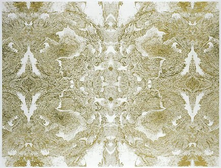 Richard Wright, Untitled (6.1.08), 2008 Gold leaf on paper, 32 3/16 × 42 ⅞ inches (81.8 × 109 cm)