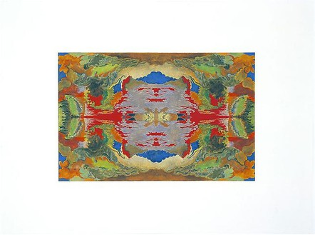 Richard Wright, Untitled (3.3.08), 2008 Gouache and watercolor on paper, 24 ⅛ × 33 inches (61.2 × 83.7 cm)