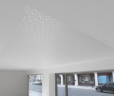 Richard Wright, No Title, 2009 Silver leaf on ceiling, dimensions variableArtwork © Richard Wright