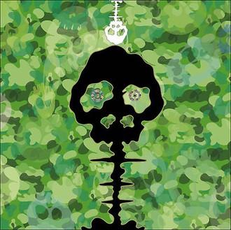 Takashi Murakami, TIME - camouflage moss green, 2009 Acrylic on canvas mounted on aluminum frame, 118 × 118 inches (300 × 300 cm)© 2009 Takashi Murakami/Kaikai Kiki Co., Ltd. All Rights Reserved