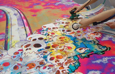 Takashi Murakami: Picture of Fate: I Am But a Fisherman Who Angles in the Darkness of His Mind, West 24th Street, New York