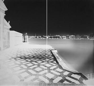 Vera Lutter, San Giorgio, Venice XVIII, January 26, 2008, 2008 Unique gelatin-silver print, 2 panels: 103 × 113 ¼ inches framed overall (261.6 × 287.7 cm)