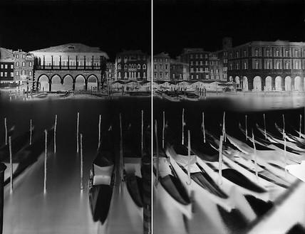 Vera Lutter, Campo Santa Sofia, Venice, XXIII: December 17, 2007, 2007 Unique gelatin silver print, 85 7/16 × 112 inches (217 × 284.5 cm)