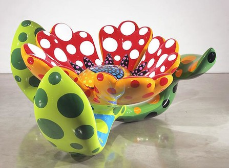 Yayoi Kusama, Flowers That Bloom at Midnight S3, 2009 Fiberglass-reinforced plastic, metal and all-weather urethane paint, 53 ½ × 86 ⅝ × 89 ¾ inches (136 × 220 × 228 cm)Photo by Douglas M. Parker Studio
