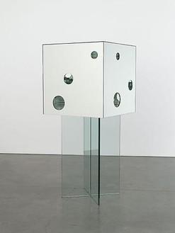 Yayoi Kusama, Passing Winter, 2005 Mirror and glass, 74 13/16 × 31 ½ × 31 ½ inches (190 × 80 × 80 cm)