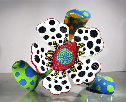 Yayoi Kusama, Flowers That Bloom at Midnight S1B, 2009 Fiberglass-reinforced plastic, metal and all-weather urethane paint, 81 ⅛ × 85 ⅞ × 48 ⅜ inches (206.1 × 218.1 × 122.9 cm)Photo by Douglas M. Parker Studio