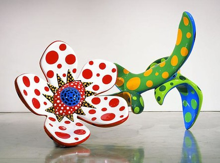 Yayoi Kusama, Flowers That Bloom at Midnight M1, 2009 Fiberglass-reinforced plastic, metal and all-weather urethane paint, 85 ⅞ × 71 ¼ × 116 ⅛ inches (218 × 181 × 295 cm)Photo by Douglas M. Parker Studio