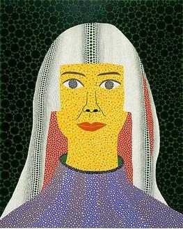 Yayoi Kusama, SELF-PORTRAIT, 2008 Acrylic on canvas, 89 ½ × 71 ½ inches (227.3 × 181.3 cm)