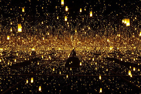 Yayoi Kusama, Aftermath of Obliteration of Eternity, 2009 (view 3) Mixed media installation, 163 ½ × 163 ½ × 113 ¼ inches (415 × 415 × 287.4 cm), edition of 3