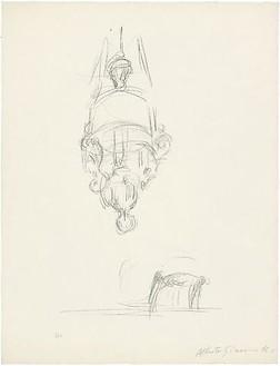 Alberto Giacometti, Chaise et suspension, 1963 Lithograph, 25 ¾ × 19 ¾ inches (65.5 × 50.3 cm)© Succession Alberto Giacometti (Fondation Giacometti + ADAGP), Paris 2010