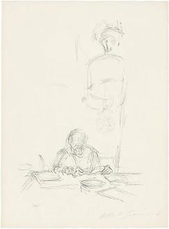 Alberto Giacometti, Mère de l'artiste, lisant I, 1963 Lithograph, 26 ¾ × 19 ¾ inches (68 × 50 cm)© Succession Alberto Giacometti (Fondation Giacometti + ADAGP), Paris 2010