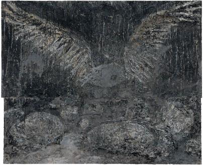 Anselm Kiefer, San Loreto, 2009–10 Oil, emulsion, acrylic, and shellac on canvas, 185 × 220 ½ × 3 ⅞ inches (470 × 560 × 10 cm)© Anselm Kiefer