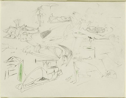 Arshile Gorky, Virginia Summer, 1946 Graphite and wax crayon on paper, 8 7/16 × 10 ⅞ inches (21.4 × 27.7 cm)