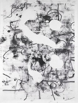 Christopher Wool, Untitled, 2010 Silkscreen ink on linen, 126 × 96 inches (320 × 243.8 cm)